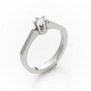 Szoliter kérő gyűrű gyémánttal