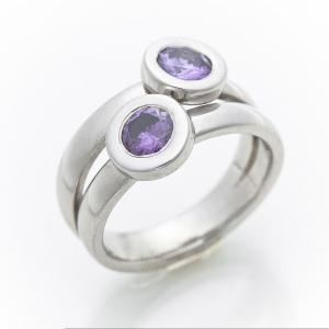 Ametiszt gyűrű