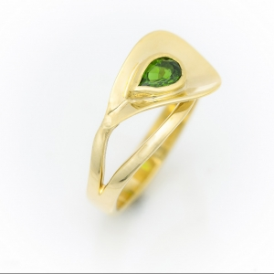Arany gyűrű turmalinnal