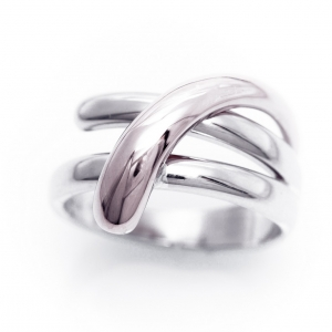 Prsten od belog i roze zlata