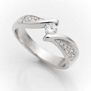 Fehérarany kérő gyűrű