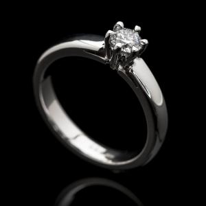 Solitaire kérő gyűrű