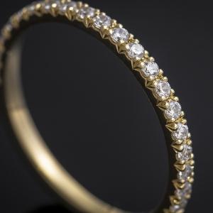 Elegáns arany gyűrű