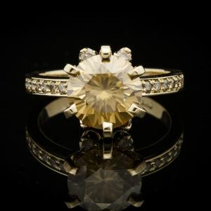 18K sárga arany gyűrű