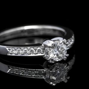 Verenički prsten od belog zlata