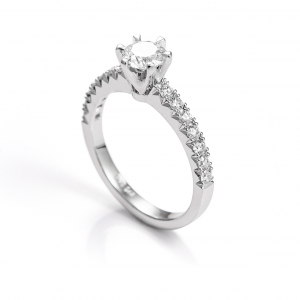 Elegantni verenički prsten sa dijamantima