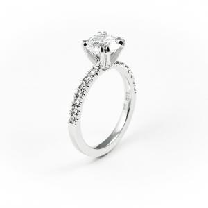 Vereničko prstenje od beleog zlata