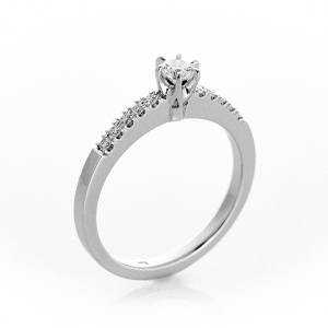 Perfektno vereničko prstenje sa brilijantima
