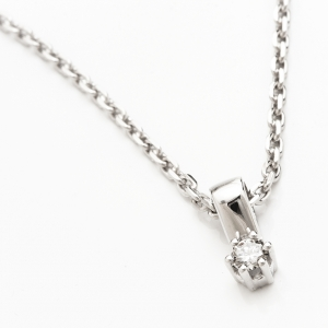 Fehérarany medál gyémánttal