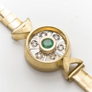 Narukvica sa smaragdom i dijamantima
